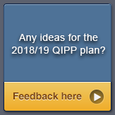 Any ideas for the 2018/19 QIPP Plan?